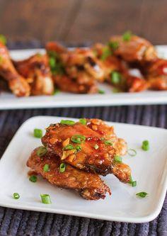 Honey Garlic Chicken Wings.