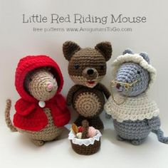 Little red riding mouse amigurumi crochet pattern