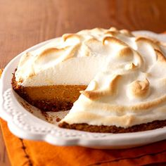 Pecan Sweet Potato Pie with Marshmallow Meringue