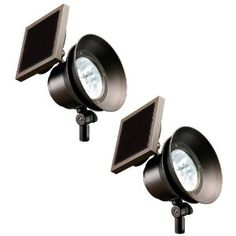 Westinghouse Solar lights.  Extra bright, stay on until dawn! I love these things!!