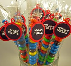 Hockey Rules   Candy Treat Bag Favors Set by CarasScrapNStampArt, $7.00