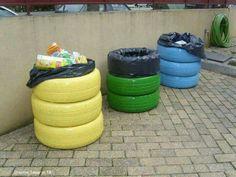 Gomas de auto para tachos de basura