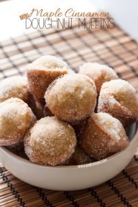 Maple Cinnamon Mini Doughnut Muffins on MyRecipeMagic.com are so easy and delicious! #muffins #doughnuts #mini