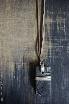 Minimalistic Shale Stone Necklace from TrivialityLab on etsy. photo by magdalena krasowski