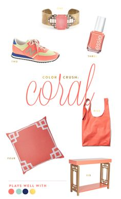 Color crush: Coral www.pencilshavingsstudio.com
