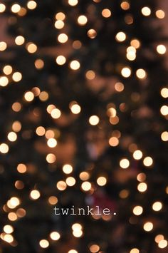 twinkle.