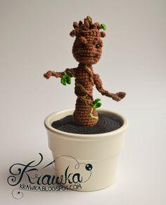 GROOT by krawka.deviantart.com on @deviantART (with free pattern)