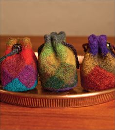 Little Felted Cinch Pouches