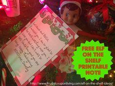 The Elf on The Shelf Ideas – FREE Elf on the Shelf Note #elfontheshelf #elfontheshelfideas #FREENote #freeprintable