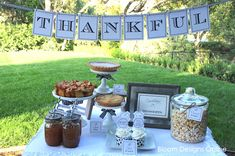 dessert tables, holiday, craft, printables, thanksgiving table, thanksgiv printabl, thanksgiving desserts, banner, parti