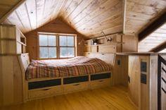 attic bedroom ideas cabin, attic space, attic bedrooms, window, loft bedrooms, tiny houses, attic rooms, nook, bedroom designs