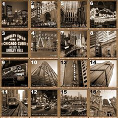 Chicago Stone Coaster Tile Set - Pick any four images - 16 to choose from. $36.00, via Etsy.