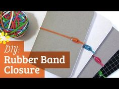 Tutorial: How to Add a Rubber Band Closure to a Memo Book by Sea Lemon