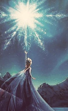 """My power flurries through the air into the ground, My soul is spiraling in frozen fractals all around, And one thought crystallizes like an icy blast, I'm never going back,, The past is in the past"" - Let it Go - Frozen"