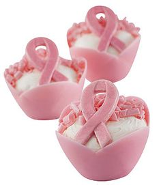 Pink Magnolia Chocolate Cups for fantastic mini desserts! www.KaneCandy.com