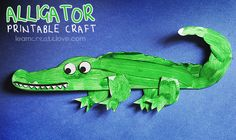 { Printable Alligator Craft } ~ we can call it a crocodile too, right?