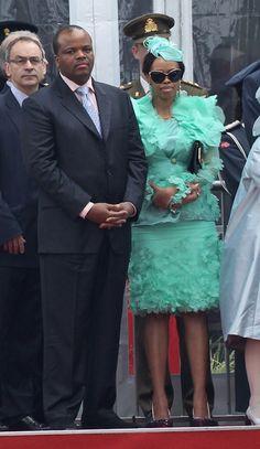King Mswati III and, Inkhosikati LaMbikiza of Swaziland