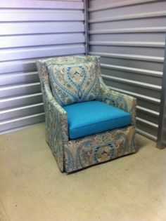 one (of two) swivel chairs I had custom made for a client.