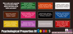 ✯ Psychological Properties of Color psycholog, colours2, color fun, colors, fyi, health