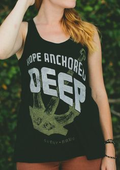 HOPE ANCHORED DEEP || Pick up a #Sevenly shirt this week & support the amazing efforts of Mercy Ships who bring hope & healing to the forgotten poor in Africa.