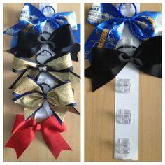 cheerleading bow holder, cheer bows diy, cheering bow organizer, cheer bows holder, cheer bow organizer