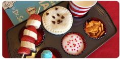 muffin tin meals, birthday, muffin tins, food, dr suess, lunch, dr seuss, parti, kid