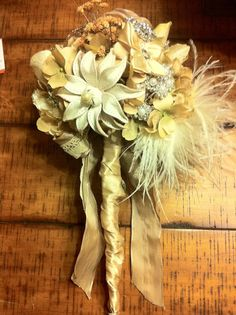 vintage brooch bouquet.