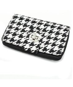Houndstooth Quilted Flat Clutch Wallet - http://handbagscouture.net/brands/private-label/houndstooth-quilted-flat-clutch-wallet/