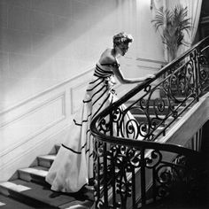 Paris 1950    Evening gown named 'Liszt 'by Christian Dior.