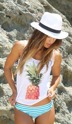 Billabong Cooladas   nicdelmar.com shirt bad, beach outfits, summer beach, bikini, summer pineapple, beach styles, tank, beach hair, hat