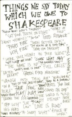 Phrases From Shakespeare