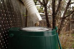 some information on rain barrels for collecting rain water to reuse in the garden