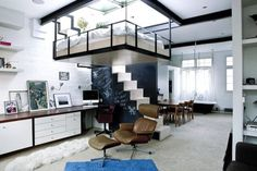 small apartments, interior, hanging beds, loft, tiny apartments