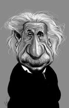 Einstein #Caricature #FunnyFaces