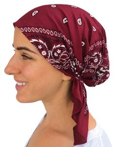 23% Off was $12.95, now is $9.95! Classic Paisley Design Pre Tied Fitted Bandana Head Scarf