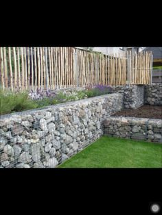 """rock "" retaining wall"