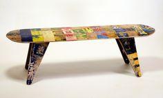 Deckstool - recycled skateboard furniture