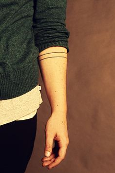 forearm tattoo | two lines