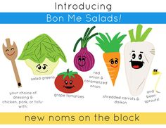 new menu item: salads! check them out on Bon Me Blue :)