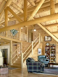 luxury log homes gallery | Affordable Luxury Log Home Gallery : Featured Interiors