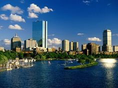 Charles River, Boston, MA - perfect sky