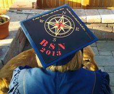 BSN decorated graduation cap