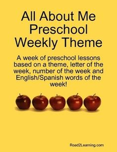 all+about+me+theme+for+preschoolers | All About Me Preschool Weekly Theme by Road2Learning in Education