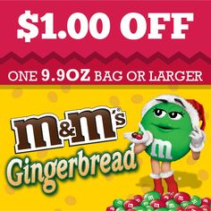 Gingerbread M&M's coupon. #HolidayMM