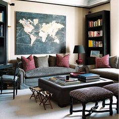 Map Rooms For The Globally Inspired: Places - Home Improvement Blog – The Apron by The Home Depot