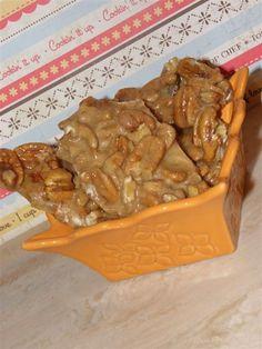 Butter pecan brittle