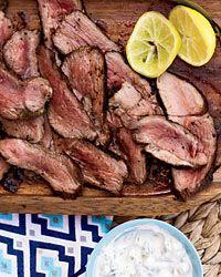Leg of Lamb with Tzatziki Recipe on Food & Wine