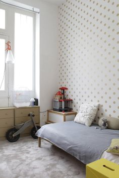 Polka dot wall. Kids room
