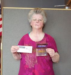 Debbie Ricetti won $100 in The Great Gas & Grocery Giveaway from KXLY4, Divine's & Yokes.