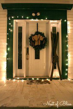 Christmas porch - Farmhouse Tour - Nest of Bliss